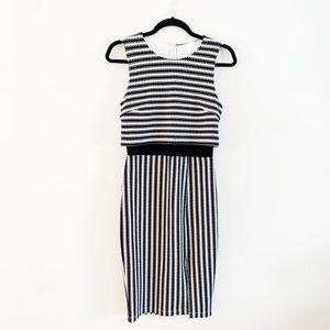 Bisou Bisou | Striped Mod Bodycon Midi dress 4